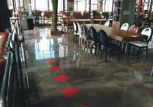 绵阳咖啡厅自流平地坪施工