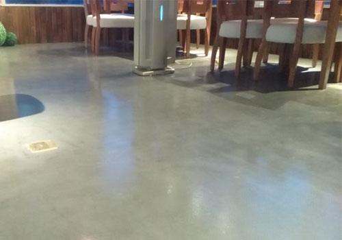 餐厅水泥自流平地坪施工案例